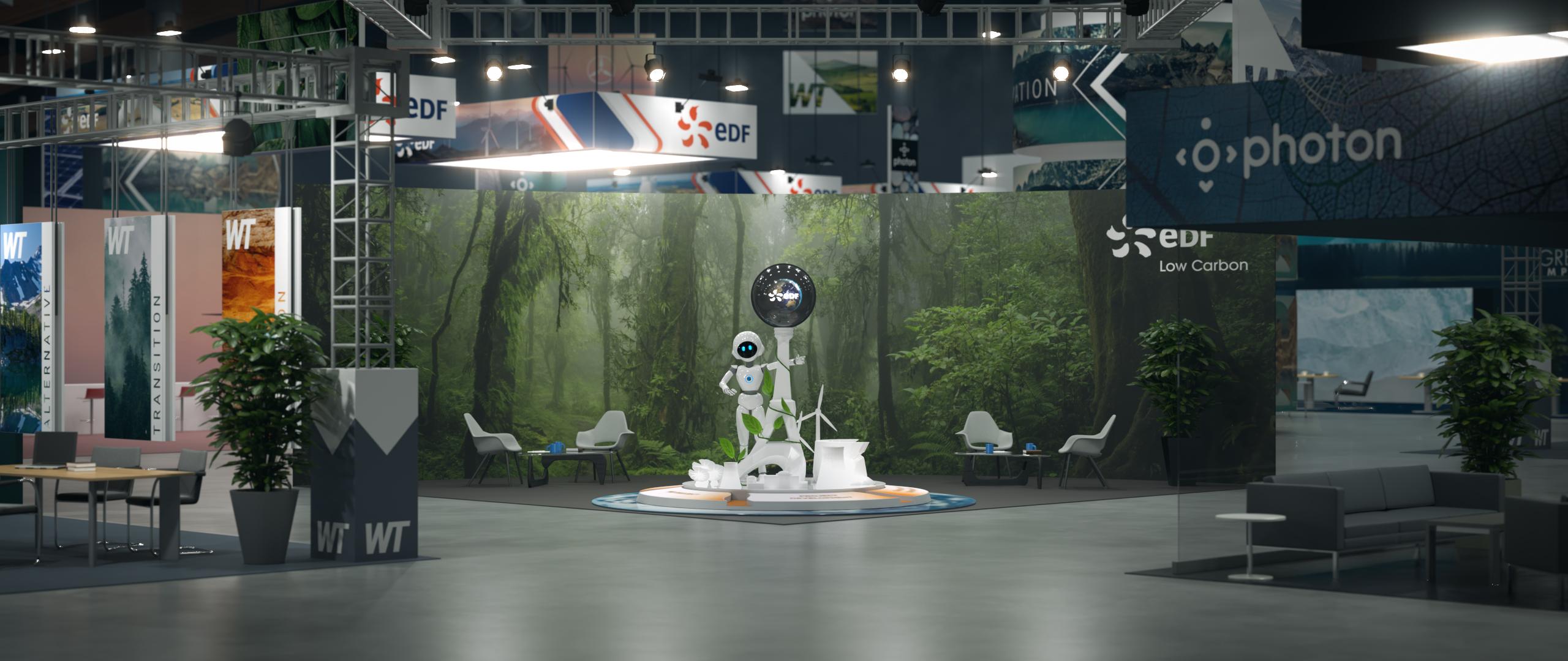 Rendu en 3D de l'introduction du film