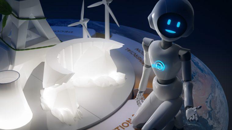 Animation du personnage et du décor en 3D